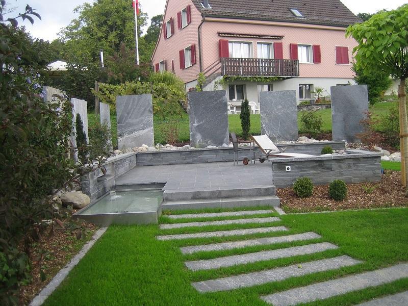 Großartig Garten Sichtschutz Stein Galerie - Hauptinnenideen ...